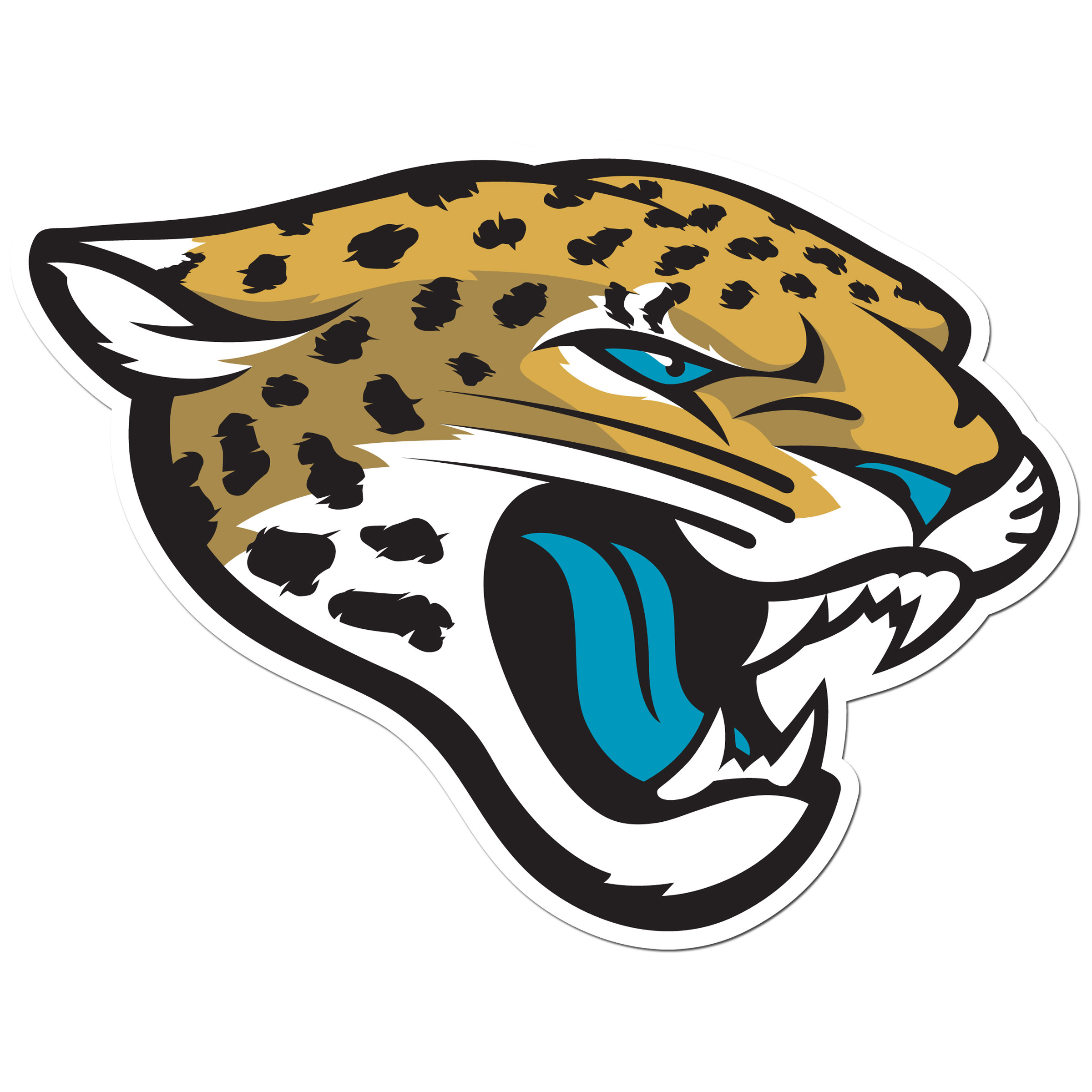 Jacksonville Jaguars 8 inch Auto Decal - This bold, 8 inch Jacksonville Jaguars is a great way to show off your team pride! The low tack vinyl decal is easily positioned and adjusted to make sure you get that logo in just the right spot on your vehicle. Designed to be used on the outside of the window.