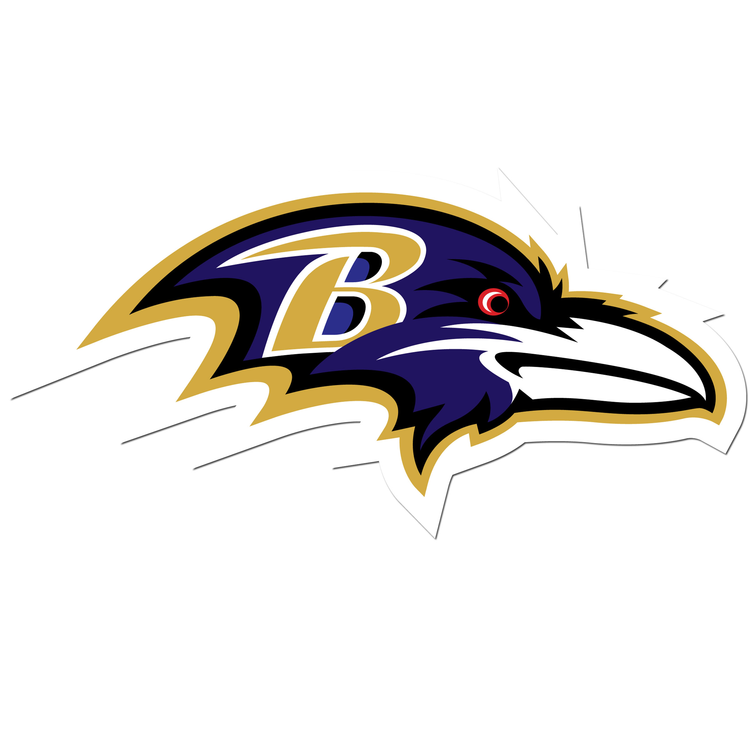 Baltimore Ravens 8 inch Auto Decal - This bold, 8 inch Baltimore Ravens is a great way to show off your team pride! The low tack vinyl decal is easily positioned and adjusted to make sure you get that logo in just the right spot on your vehicle. Designed to be used on the outside of the window.