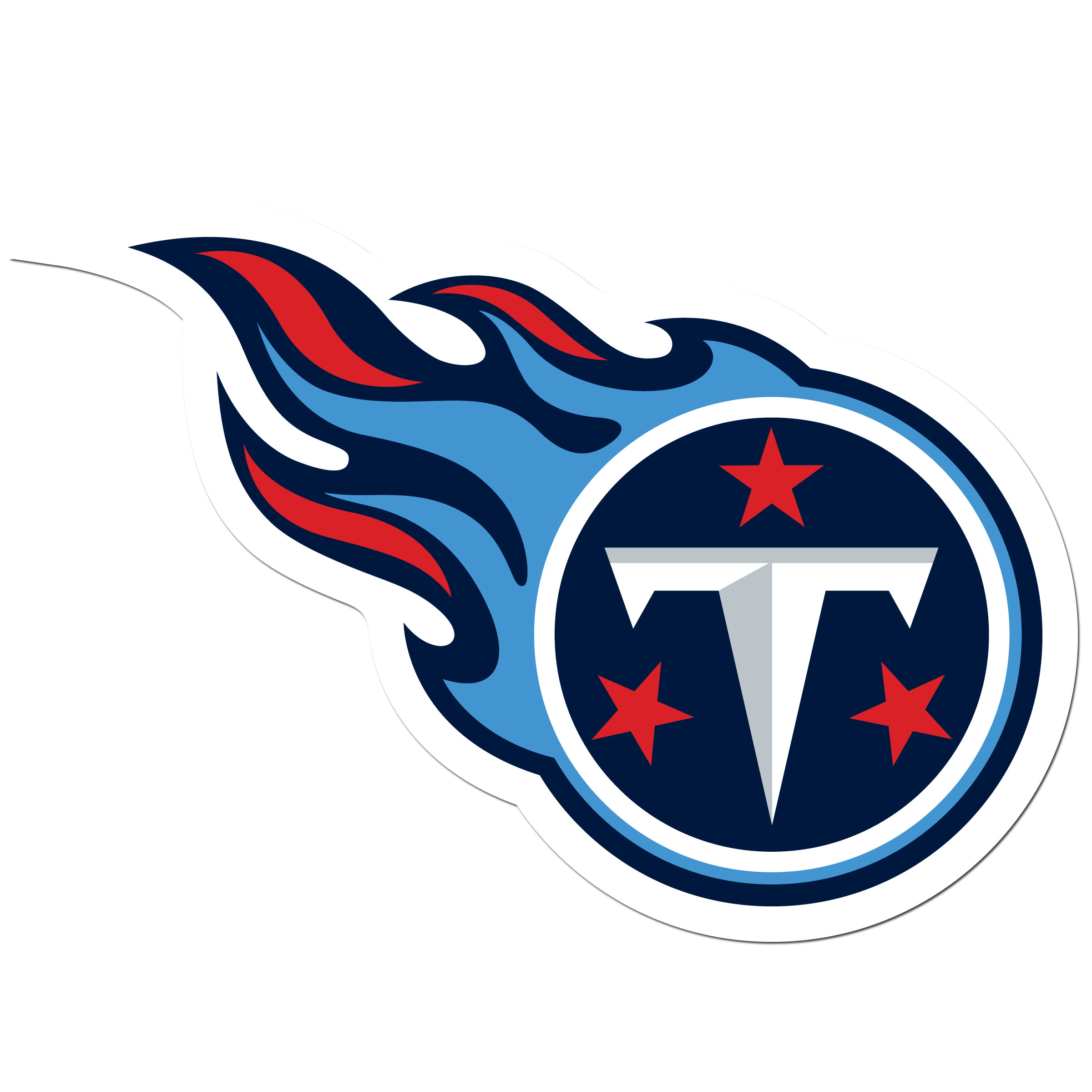 Tennessee Titans 8 inch Auto Decal - This bold, 8 inch Tennessee Titans is a great way to show off your team pride! The low tack vinyl decal is easily positioned and adjusted to make sure you get that logo in just the right spot on your vehicle. Designed to be used on the outside of the window.