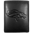 Embossed Logo Tri-fold Wallets