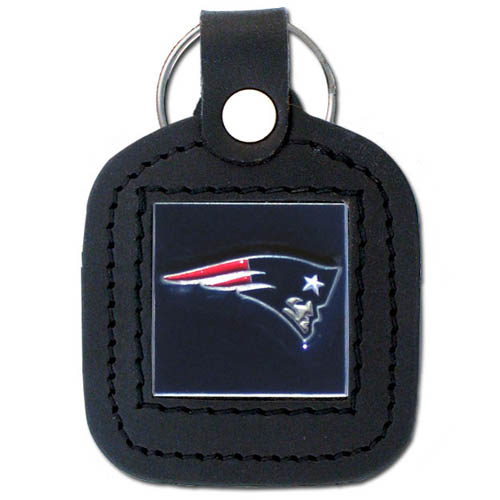 Square Leather Key Ring - Oakland Raiders - The NFL square leather key ring features a 3D carved metal square that is hand enameled in the team colors and inlaid into a genuine leather key fob. Check out our entire line of  key rings! Officially licensed NFL product Licensee: Siskiyou Buckle Thank you for visiting CrazedOutSports.com