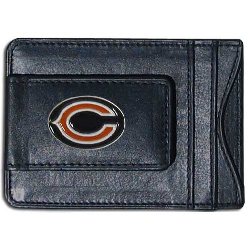 Cash and Cardholder Chicago Bears - Our Chicago Bears fine leather cash & cardholder is the perfect way to organize both your cash and cards while showing off your team spirit! Officially licensed NFL product Licensee: Siskiyou Buckle .com