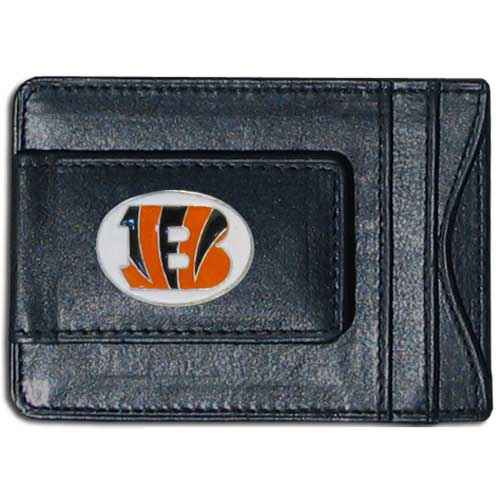 Cash & Cardholder Cincinnati Bengals - Our Cincinnati Bengals fine leather cash & cardholder is the perfect way to organize both your cash and cards while showing off your team spirit! Officially licensed NFL product Licensee: Siskiyou Buckle .com