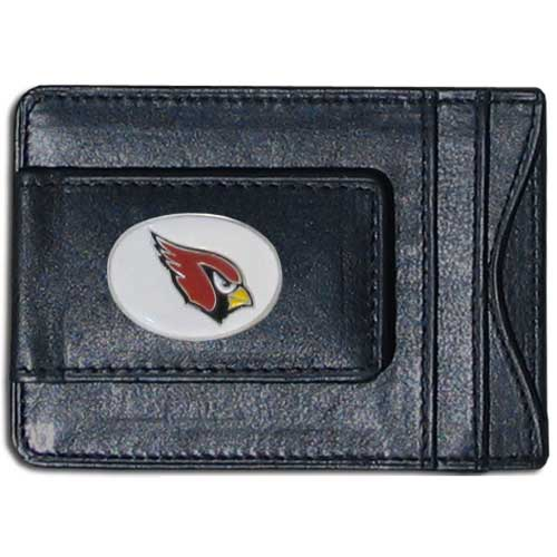 Cash and Cardholder Arizona Cardinals - Our Arizona Cardinals fine leather cash & cardholder is the perfect way to organize both your cash and cards while showing off your team spirit! Officially licensed NFL product Licensee: Siskiyou Buckle .com