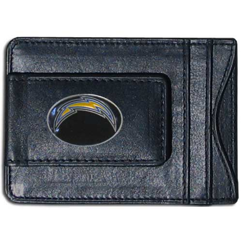 Cash & Cardholder Los Angeles Chargers - Our Los Angeles Chargers fine leather cash & cardholder is the perfect way to organize both your cash and cards while showing off your Los Angeles Chargers team spirit! Officially licensed NFL product Licensee: Siskiyou Buckle .com