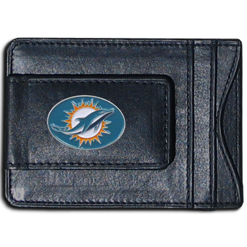Cash & Cardholder Miami Dolphins - Our Miami Dolphins fine leather cash & cardholder is the perfect way to organize both your cash and cards while showing off your team spirit! Officially licensed NFL product Licensee: Siskiyou Buckle .com