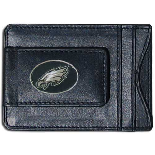 Cash and Cardholder Philadelphia Eagles - Our Philadelphia Eagles fine leather cash & cardholder is the perfect way to organize both your cash and cards while showing off your team spirit! Officially licensed NFL product Licensee: Siskiyou Buckle .com