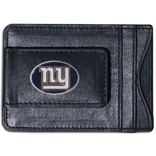 Cash and Cardholder New York Giants - Our New York Giants fine leather cash & cardholder is the perfect way to organize both your cash and cards while showing off your team spirit! Officially licensed NFL product Licensee: Siskiyou Buckle .com