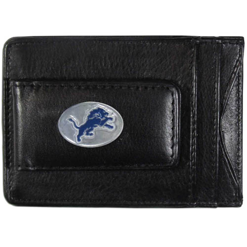 Cash and Cardholder Detroit Lions - Our Detroit Lions fine leather cash & cardholder is the perfect way to organize both your cash and cards while showing off your team spirit! Officially licensed NFL product Licensee: Siskiyou Buckle .com