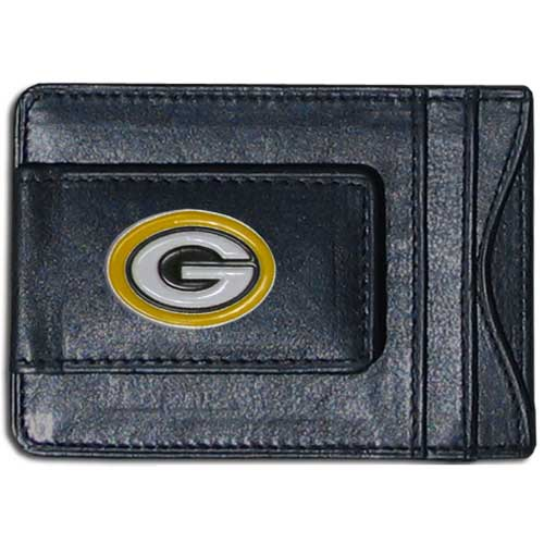 Cash and Cardholder Green Bay Packers - Our Green Bay Packers fine leather cash & cardholder is the perfect way to organize both your cash and cards while showing off your team spirit! Officially licensed NFL product Licensee: Siskiyou Buckle .com