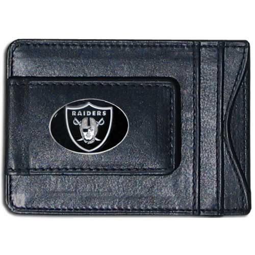 Cash & Cardholder Oakland Raiders - Our Oakland Raiders fine leather cash & cardholder is the perfect way to organize both your cash and cards while showing off your team spirit! Officially licensed NFL product Licensee: Siskiyou Buckle Thank you for visiting CrazedOutSports.com
