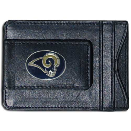 Cash & Cardholder St. Louis Rams - Our St. Louis Rams fine leather cash & cardholder is the perfect way to organize both your cash and cards while showing off your team spirit! Officially licensed NFL product Licensee: Siskiyou Buckle .com