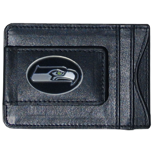 Cash and Cardholder Seattle Seahawks - Our Seattle Seahawks fine leather cash & cardholder is the perfect way to organize both your cash and cards while showing off your team spirit! Officially licensed NFL product Licensee: Siskiyou Buckle .com
