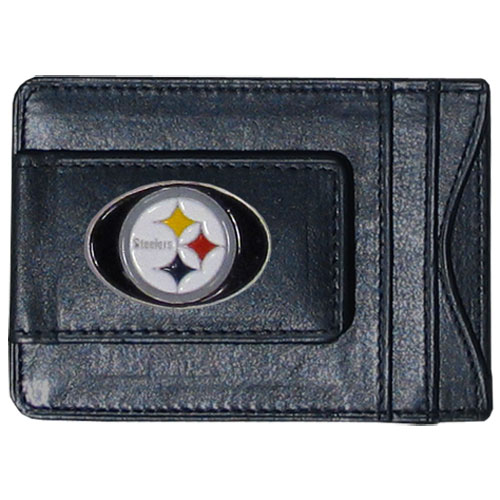 Cash and Cardholder Pittsburgh Steelers - Our Pittsburgh Steelers fine leather cash & cardholder is the perfect way to organize both your cash and cards while showing off your team spirit! Officially licensed NFL product Licensee: Siskiyou Buckle .com