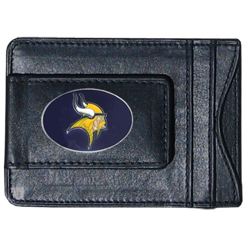 Cash & Cardholder Minnesota Vikings - Our Minnesota Vikings fine leather cash & cardholder is the perfect way to organize both your cash and cards while showing off your team spirit! Officially licensed NFL product Licensee: Siskiyou Buckle .com