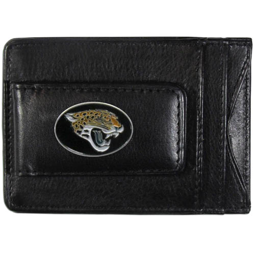 Cash & Cardholder Jacksonville Jaguars - Our Jacksonville Jaguars fine leather cash & cardholder is the perfect way to organize both your cash and cards while showing off your team spirit! Officially licensed NFL product Licensee: Siskiyou Buckle Thank you for visiting CrazedOutSports.com