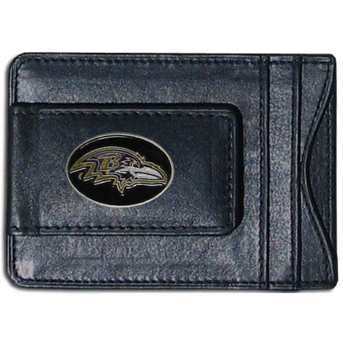 Cash and Cardholder Baltimore Ravens - Our Baltimore Ravens fine leather cash & cardholder is the perfect way to organize both your cash and cards while showing off your team spirit! Officially licensed NFL product Licensee: Siskiyou Buckle .com