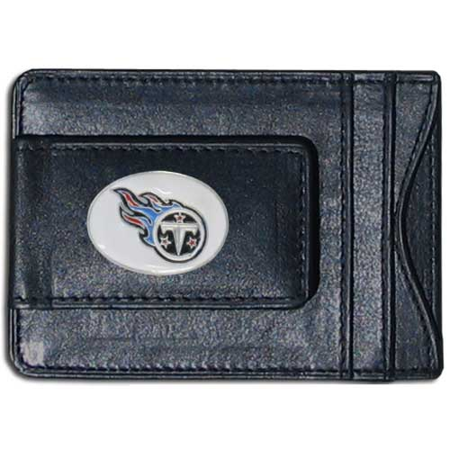 Cash and Cardholder Tennessee Titans - Our Tennessee Titans fine leather cash & cardholder is the perfect way to organize both your cash and cards while showing off your team spirit! Officially licensed NFL product Licensee: Siskiyou Buckle .com