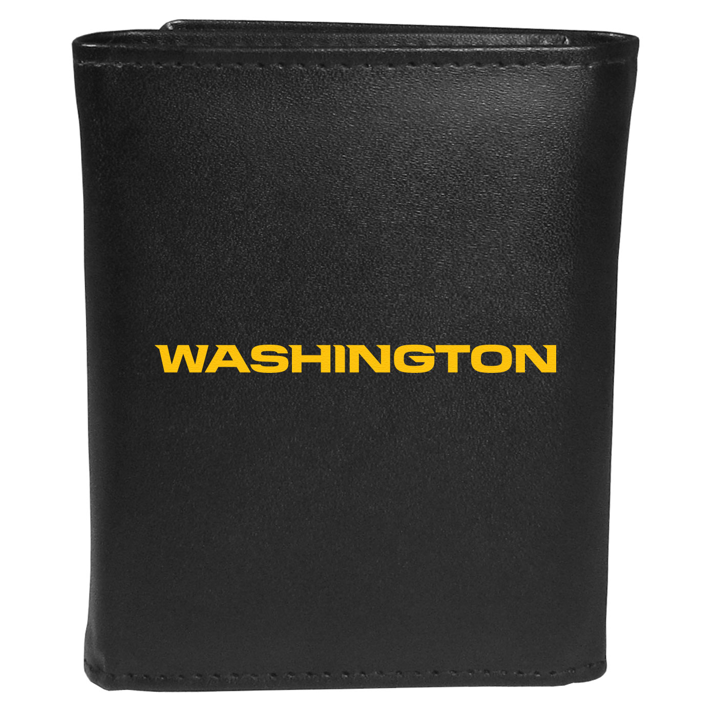 Washington Redskins Leather Tri-fold Wallet, Large Logo - Our classic fine leather tri-fold wallet is meticulously crafted with genuine leather that will age beautifully so you will have a quality wallet for years to come. This is fan apparel at its finest. The wallet is packed with organizational  features; lots of credit card slots, large billfold pocket, and a window ID slot. The front of the wallet features an extra large Washington Redskins printed logo.