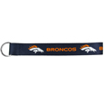 Denver Broncos  Lanyard Key Chain - Our wrist strap lanyard key chain is made of durable and comfortable woven material and is a not only a great key chain but an easy way to keep track of your keys. The bright Denver Broncos graffics makes this key chain easy to find in gym bags, purses and in the dreaded couch cushions.