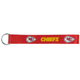 Kansas City Chiefs  Lanyard Key Chain - Our wrist strap lanyard key chain is made of durable and comfortable woven material and is a not only a great key chain but an easy way to keep track of your keys. The bright Kansas City Chiefs graffics makes this key chain easy to find in gym bags, purses and in the dreaded couch cushions.