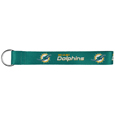 Miami Dolphins Lanyard Key Chain - This Miami Dolphins wrist strap lanyard key chain is made of durable and comfortable woven material and is a not only a great key chain but an easy way to keep track of your keys. The bright Miami Dolphins graphics makes this Miami Dolphins Lanyard Key Chain easy to find in gym bags, purses and in the dreaded couch cushions.