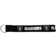 Oakland Raiders  Lanyard Key Chain - Our wrist strap lanyard key chain is made of durable and comfortable woven material and is a not only a great key chain but an easy way to keep track of your keys. The bright Oakland Raiders graffics makes this key chain easy to find in gym bags, purses and in the dreaded couch cushions.