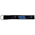 Carolina Panthers  Lanyard Key Chain - Our wrist strap lanyard key chain is made of durable and comfortable woven material and is a not only a great key chain but an easy way to keep track of your keys. The bright Carolina Panthers graffics makes this key chain easy to find in gym bags, purses and in the dreaded couch cushions.