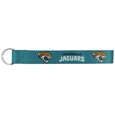 Jacksonville Jaguars  Lanyard Key Chain - Our wrist strap lanyard key chain is made of durable and comfortable woven material and is a not only a great key chain but an easy way to keep track of your keys. The bright Jacksonville Jaguars graffics makes this key chain easy to find in gym bags, purses and in the dreaded couch cushions.