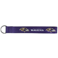 Baltimore Ravens  Lanyard Key Chain - Our wrist strap lanyard key chain is made of durable and comfortable woven material and is a not only a great key chain but an easy way to keep track of your keys. The bright Baltimore Ravens graffics makes this key chain easy to find in gym bags, purses and in the dreaded couch cushions.