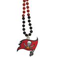 Tampa Bay Buccaneers Mardi Gras Bead Necklace - Get the party started with our fun team Mardi Gras bead necklaces. The 26 inch necklaces have chrome team colored beads and an extra large Tampa Bay Buccaneers team emblem that is a full 3 inches in size to make a big statement.
