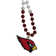 Arizona Cardinals Mardi Gras Bead Necklace - Get the party started with our fun team Mardi Gras bead necklaces. The 26 inch necklaces have chrome team colored beads and an extra large Arizona Cardinals team emblem that is a full 3 inches in size to make a big statement.