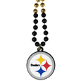 Pittsburgh Steelers Mardi Gras Bead Necklaces - Have a little fun on game day with our 36 inch Mardi Gras bead necklaces with extra large team logos.