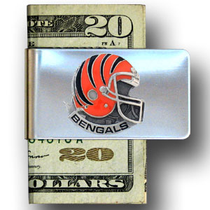 Cincinnati Bengals stainless steel money - Our NFL stainless steel money clips feature a hand painted emblem featuring the Cincinnati Bengals. Officially licensed NFL product Licensee: Siskiyou Buckle .com