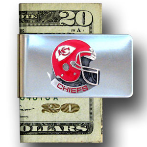Kansas City Chiefs stainless steel money clip - Our NFL stainless steel money clips feature a hand painted emblem featuring the Kansas City Chiefs. Officially licensed NFL product Licensee: Siskiyou Buckle Thank you for visiting CrazedOutSports.com