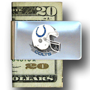 Indianapolis Colts stainless steel money clip - Our NFL stainless steel money clips feature a hand painted emblem featuring the Indianapolis Colts. Officially licensed NFL product Licensee: Siskiyou Buckle Thank you for visiting CrazedOutSports.com