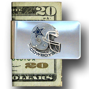 Dallas Cowboys stainless steel money clip  - Our NFL stainless steel money clips feature a hand painted emblem featuring the Dallas Cowboys. Officially licensed NFL product Licensee: Siskiyou Buckle Thank you for visiting CrazedOutSports.com