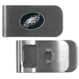 Philadelphia Eagles Bottle Opener Money Clip - These unique money clip is made of heavy duty steel and has a functional bottle opener on the back. The money clip features a Philadelphia Eagles emblem with enameled team colors. Makes a great gift! Officially licensed NFL product Licensee: Siskiyou Buckle .com
