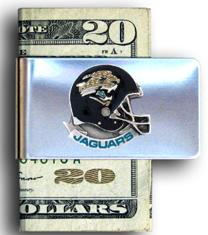 Jacksonville Jaguars stainless steel money clip - Our NFL stainless steel money clips feature a hand painted emblem featuring the Jacksonville Jaguars. Officially licensed NFL product Licensee: Siskiyou Buckle Thank you for visiting CrazedOutSports.com