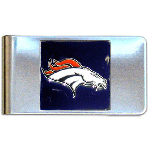 Denver Broncos Large NFL Money Clip - Put your team spirit where your money is with this large metal money clip. Hand painted 3D emblem in team colors. Check out our entire line of  gifts!  Officially licensed NFL product Licensee: Siskiyou Buckle Thank you for visiting CrazedOutSports.com