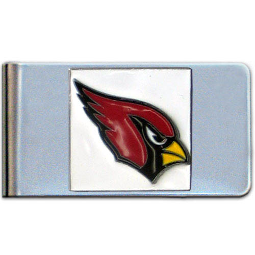 Arizona Cardinals Large NFL Money Clip - Put your team spirit where your money is with this large metal money clip. Hand painted 3D emblem in team colors.    Officially licensed NFL product Licensee: Siskiyou Buckle .com