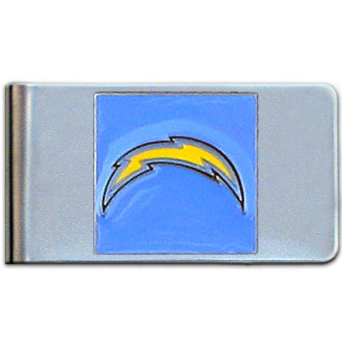 Los Angeles Chargers Large NFL Money Clip - Put your team spirit where your money is with this large Los Angeles Chargers metal money clip. Hand painted 3D emblem in Los Angeles Chargers team colors.  Check out our entire line of  gifts!   Officially licensed NFL product Licensee: Siskiyou Buckle .com