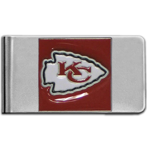 Kansas City Chiefs Large NFL Money Clip - Put your team spirit where your money is with this large metal money clip. Hand painted 3D emblem in team colors. Check out our entire line of  gifts!    Officially licensed NFL product Licensee: Siskiyou Buckle Thank you for visiting CrazedOutSports.com