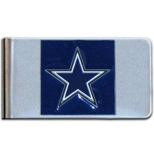 Dallas Cowboys Large NFL Money Clip - Put your team spirit where your money is with this large metal money clip. Hand painted 3D emblem in team colors. Check out our entire line of  gifts!    Officially licensed NFL product Licensee: Siskiyou Buckle .com