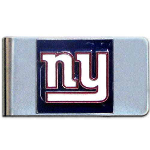 New York Giants Large NFL Money Clip - Put your team spirit where your money is with this large metal money clip. Hand painted 3D emblem in team colors. Check out our entire line of  gifts!    Officially licensed NFL product Licensee: Siskiyou Buckle Thank you for visiting CrazedOutSports.com