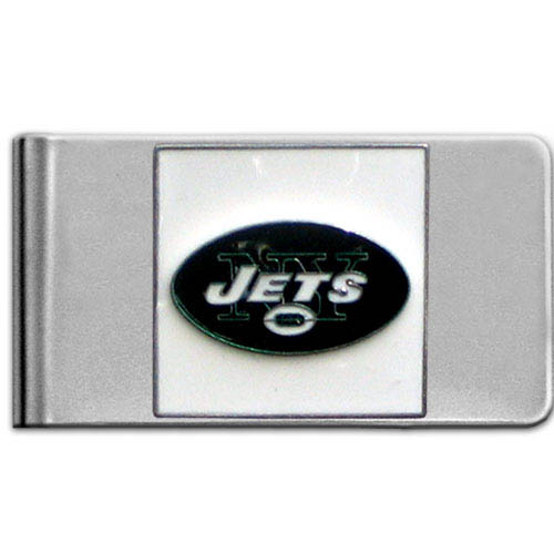 New York Jets Large NFL Money Clip - Put your team spirit where your money is with this large metal money clip. Hand painted 3D emblem in team colors. Check out our entire line of  gifts!    Officially licensed NFL product Licensee: Siskiyou Buckle Thank you for visiting CrazedOutSports.com