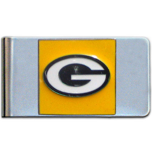Green Bay Packers Large NFL Money Clip - Put your team spirit where your money is with this large metal money clip. Hand painted 3D emblem in team colors. Check out our entire line of  gifts!    Officially licensed NFL product Licensee: Siskiyou Buckle .com