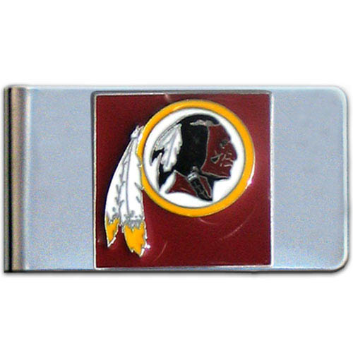 Washington Redskins Large NFL Money Clip - Put your team spirit where your money is with this large metal money clip. Hand painted 3D emblem in team colors. Check out our entire line of  gifts!    Officially licensed NFL product Licensee: Siskiyou Buckle Thank you for visiting CrazedOutSports.com