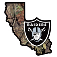Oakland Raiders State Decal w/Mossy Oak Camo