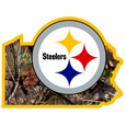 Pittsburgh Steelers State Decal w/Mossy Oak Camo